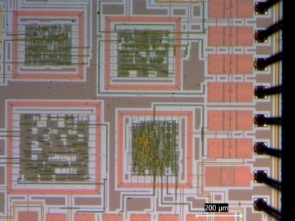 A panoramic view of the PNX1 test chip(Click here to see a larger image.)