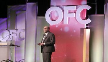 Robert Tkach speaks at OFC 2014.  (Photo by Jessica Lipsky.)