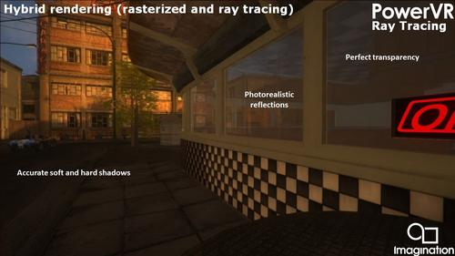 PowerVR Ray Tracing GPUs offer ultra-realistic shadows, reflections, and transparency at no extra cost.  (Source: Imagination)