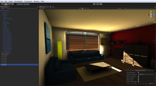 The Unity 5 lightmap editor uses PowerVR Ray Tracing technology to improve pre-baked lighting. (Source: Unity)