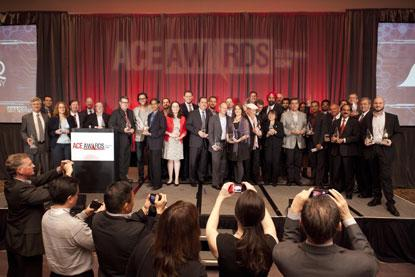 Group shot of ACE Award winners, 2014. (Source: EE Times)