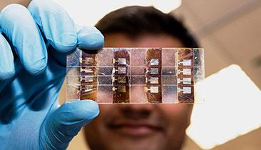 Perovskite has potential as a solar cell material.(Source: Nanyang Technological University)