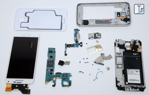 Teardown.com disassembled the Samsung Galaxy S5.(Source: Teardown.com)