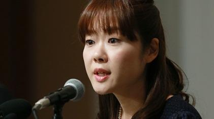 Haruko Obokata answered questions at a nearly two-hour-long press conference Wednesday in Japan.