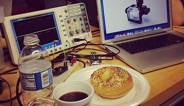 The bagel is now the official food of test & measurement. Just be careful not to get the seeds on your circuits.