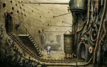 A scene from Machinarium.