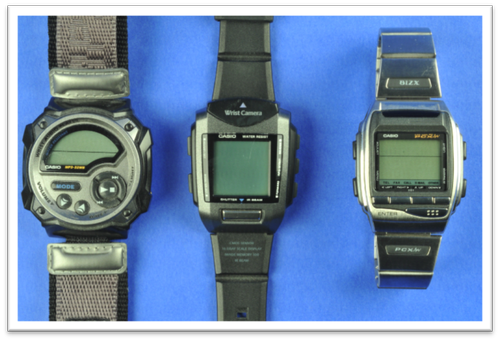 Casio's WMP1, WPV1, and BIZX HBX-100.(Source: Teardown.com)