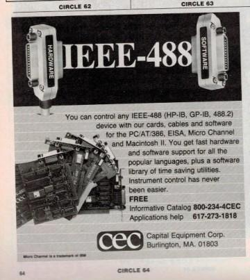 This ad from Capital Equipment Corp. appeared in the October 1992 issue of Test & Measurement World. CEC was later acquired by National Instruments.