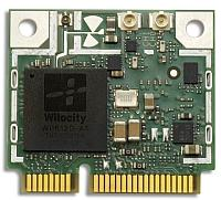 A Wilocity WiGig chip mounted on a board.
