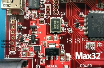chipKIT Max32 Modification for 5V Operation
