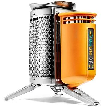 Figure 1: Go camping with a TEG: with the Biolite CampStove, you don't have to worry about your phone running out of power (though it may be out of range of a tower), and your cooking fire may also burn hotter due to the small internal fan.