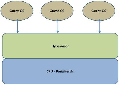 Type 1 virtualization.