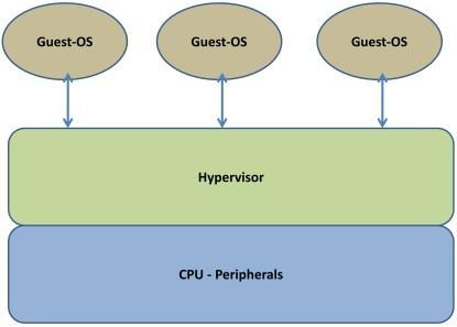 Type 1 virtualization.