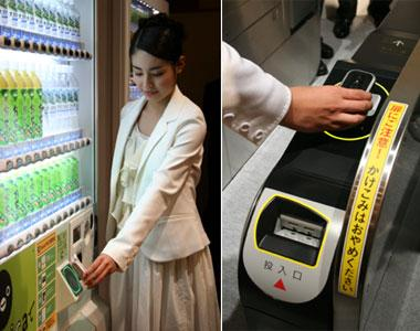 Osaifu-Keitai system in Japan.