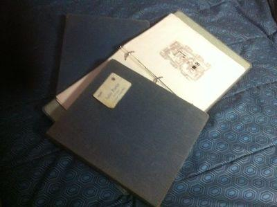 Julie Porter's 3-ring binder containing all of the documentation for her player piano project.