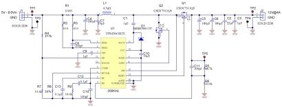 Figure 1: Adding synchronous rectifier (Q1) to a boost converter improves efficiency. (See full-size image.)