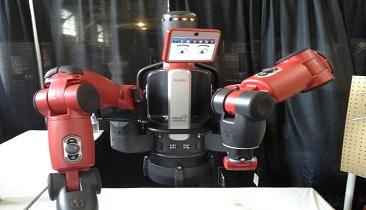 Rethink Robotics' Baxter is designed for manufacturing.