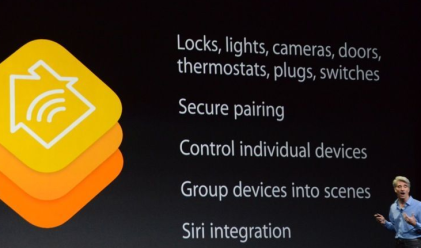 What Apple's HomeKit brings to home automation devices. (Source: Apple)