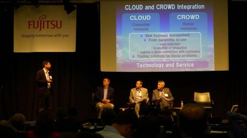 Panel on crowd vs. cloud at Fujitsu Lab's 8th annual event.