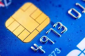 Credit card with EMV chip.