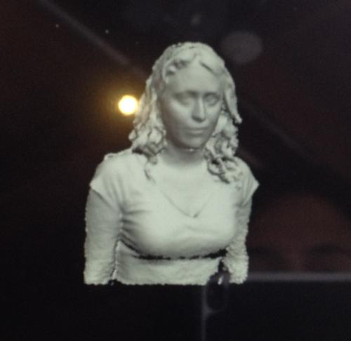 3D body mapping using RealSense embedded in a tablet. A scan could be 3D printed for your very own action figures.
