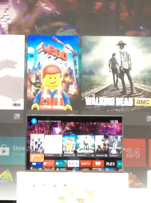Android TV combines the search power of Google with high-quality graphics from Nvidia.