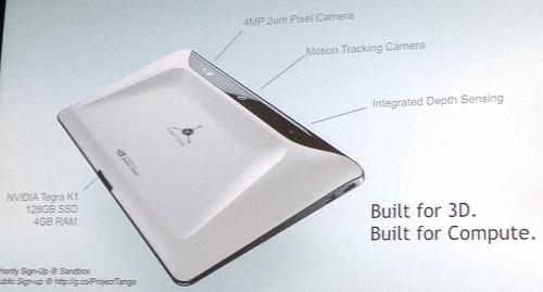 A hardware breakdown of the Tango tablet.