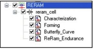 ReRAM device tests.