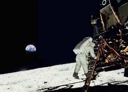 The Apollo 11 mission in 1969 took the first humans to the surface of the moon. Millions of people watched as Neil Armstrong and Buzz Aldrin (pictured) alighted from the lunar module.(Source: NASA)