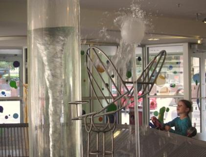 There are multiple water play displays at Madison Children's Museum. Kids like the unpredictability of water. (Source: Junko Yoshida)