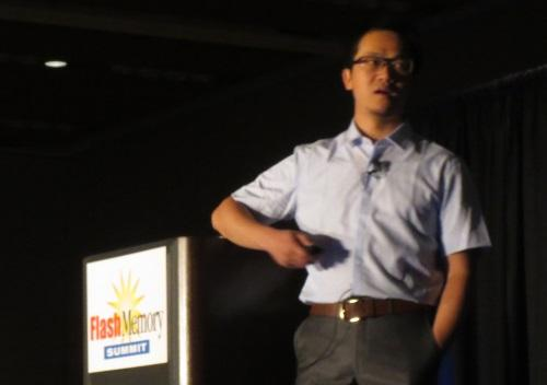 'Roc' Wu Peng called for a streamlined software stack to ease the job of communicating flash memory health to apps.