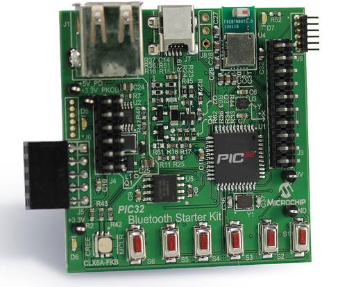 Microchip eases Bluetooth development with its PIC32 starter kit (part DM320018, pictured above). (Source: Microchip)