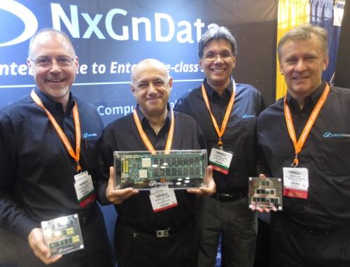 From left, NxGnData execs Richard Mataya, Co-Founder and SVP; Nader Salessi, Founder and CEO; Vladimir Alves, Co-Founder and CTO; James Fife, VP of Business Development