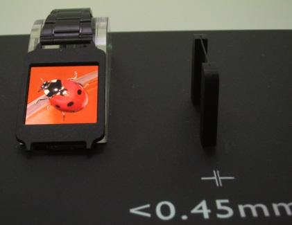 Auo's 1.6-inch In-Cell Touch AMOLED (227 ppi) for wearable devices.