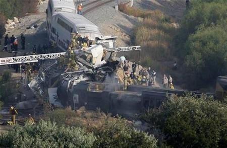 A view of the 2008 Chatsworth train crash.(Source: Reuters)