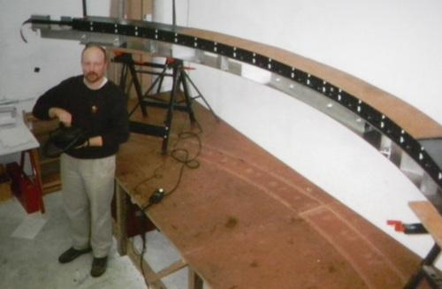 Macmillan in 1996 with his Josephine camera array.