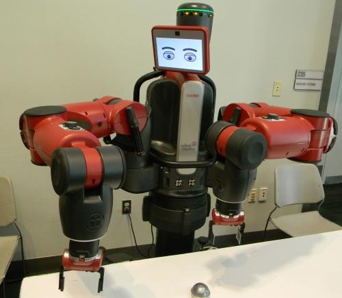 Rethink showed how its Baxter robot could be quickly reprogrammed to handle a variety of different tasks.