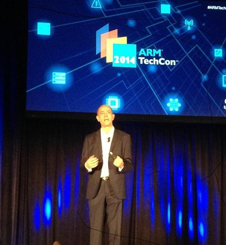 ARM CEO Simon Segars speaks at ARM TechCon.