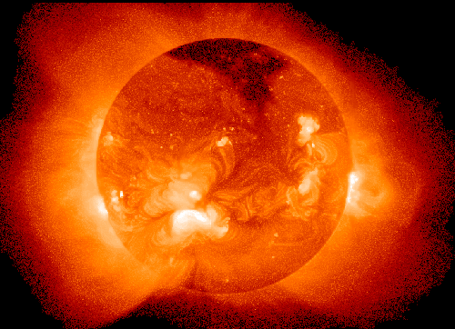 The Sun is a natural fusion reactor, the most powerful energy source in the universe.<br />(Image: NASA, Goddard Laboratory for Atmospheres)