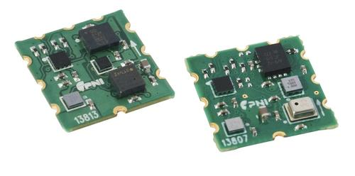All-in-one sensor hub including MEMS chips enables engineers to concentrate on applications. SENtral 13813 (left) ships with ST's low-power 6-axis combo, plus ST's pressure sensor and a geomagnetic sensor from AKM. SENtral 13807 (right) ships with Bosch Sensortec's low-power 6-axis combo, plus Bosch Sensortec's pressure sensor and geomagnetic sensor.