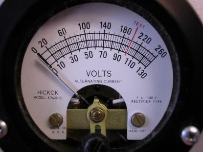 Known for their vacuum tube testers, most Hickok artworks had at least two colors. It is impressive how many of them were actually better than this one. (Click here for a larger image.)