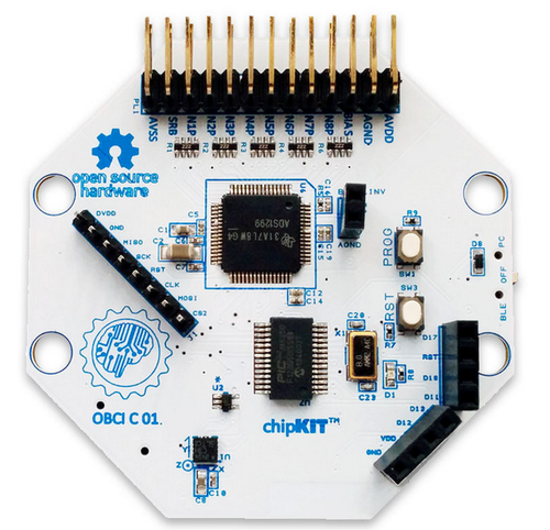 32-bit chipKIT-based board for the Open-Source Brain Computer Interface