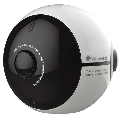 Weaved's smart 360-degree camera module can be used to create Google-like neighborhood maps, watch activity everywhere in a room, parking lot, wherever.
