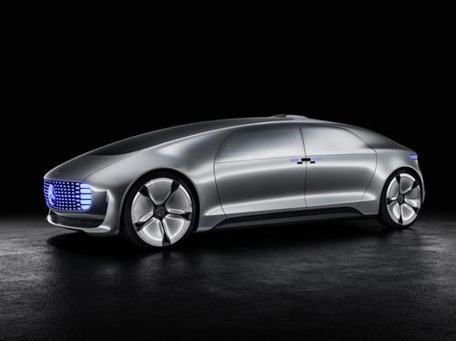 Mercedes-Benz's F 015 provides a glimpse of the automobile's future, circa 2030. The luxury automaker endowed it with full autonomy and an interior lounge that includes giant entertainment screens on the interior walls.  (Source: Mercedes-Benz)
