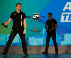 Intel demos drones using RealSense
