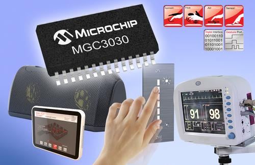 Microchip says its newest GestIC -- the MGC3030 -- can control virtually anything with 3D gestures in mid-air. (Source: Microchip)