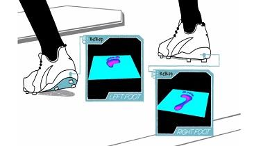 A BeBop prototype measures pressure in a smart insole. Source: BeBop