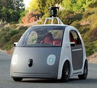 Google self-driving car prototype.