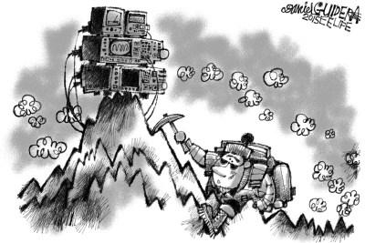 March 2015 Cartoon Caption Contest: Mountain Climbing