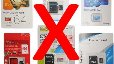 Counterfeit SD Card Problem is Widespread